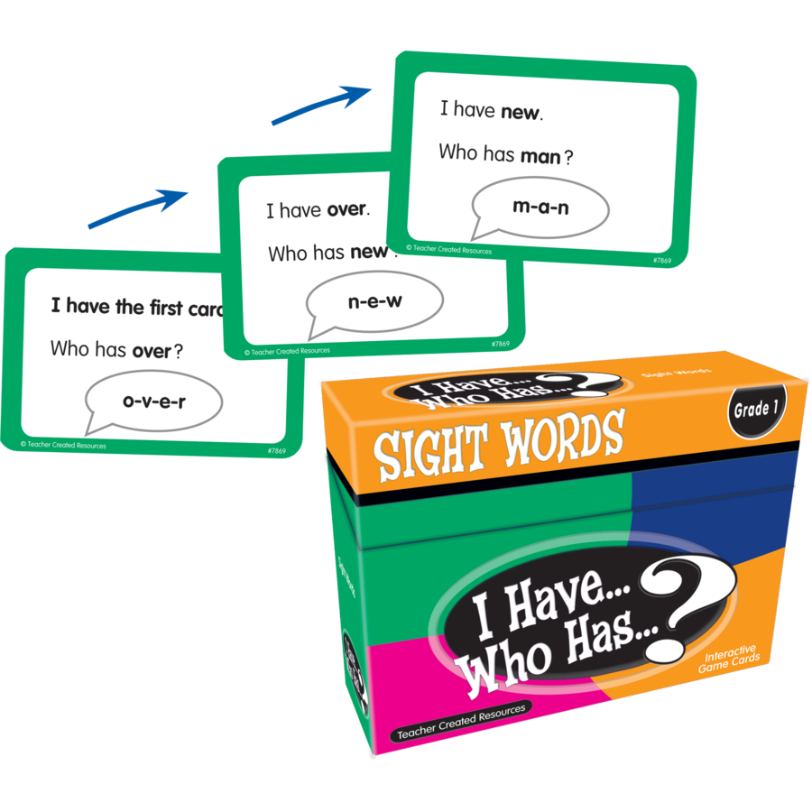 TCR 7869 I HAVE, WHO HAS SIGHT WORDS GAME GRADE 1
