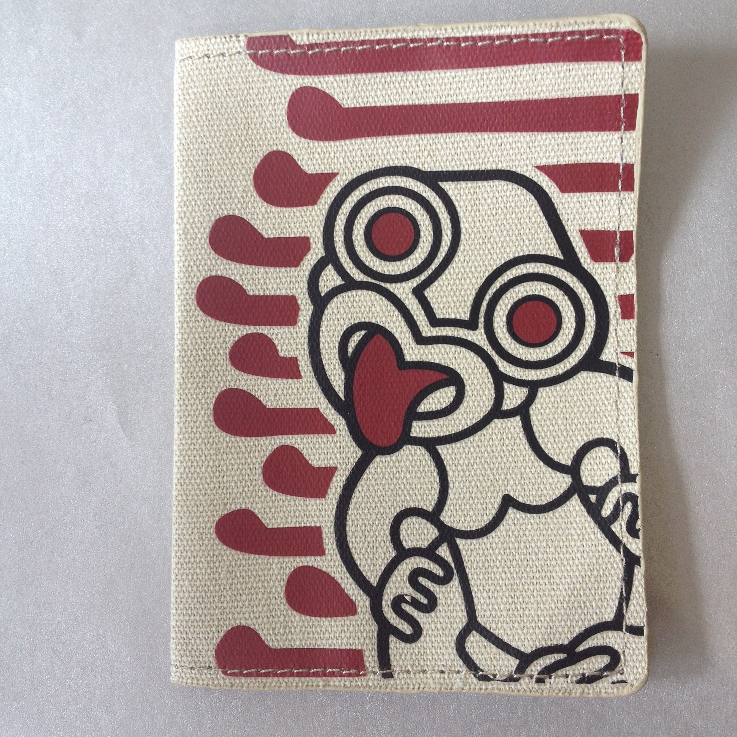 Passport Holder Tiki Red