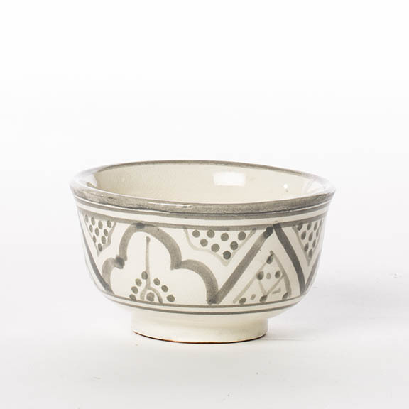 BOWL CERAMIC GREY PRINT SMALL