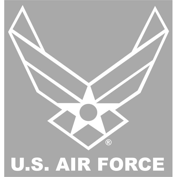 Air Force Hap Arnold White Vinyl 12 Window Decal Decals Stickers