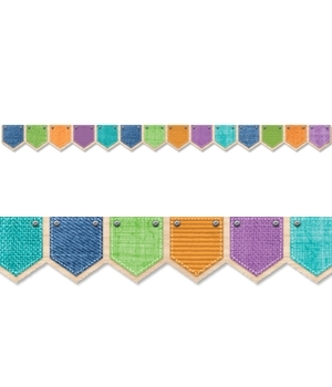 CTP 8377 UPCYCLE PATTERNED POCKETS BORDER