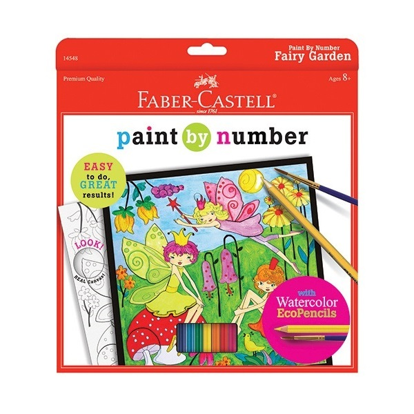 FC 14548 PAINT BY NUMBER FAIRY GARDEN