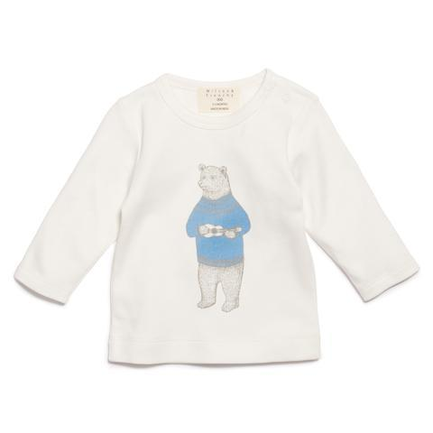 WF Blue Hello Bear LS Top