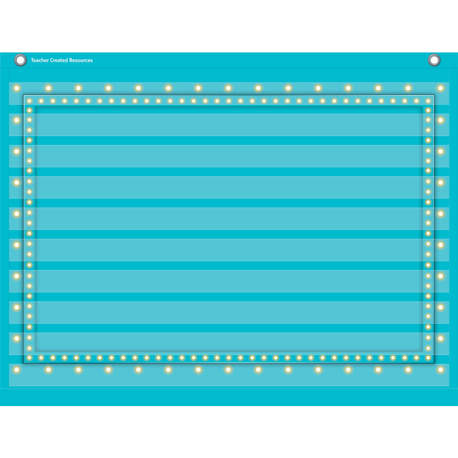 TCR 20775 BLUE MARQUEE 10 POCK POCKET CHART
