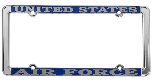 U.S. Air Force License Plate Frame - Thin Rim | Auto Accessories ...
