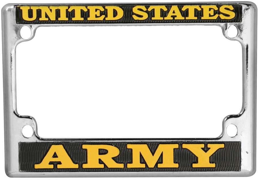 Army Metal Motorcycle License Plate Frame | Motorcycle Gear ...
