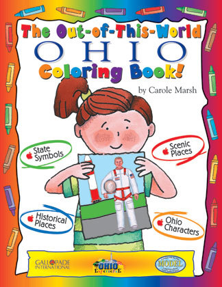 GA 94740 THE OUT OF THIS WORLD OHIO COLORING BOOK