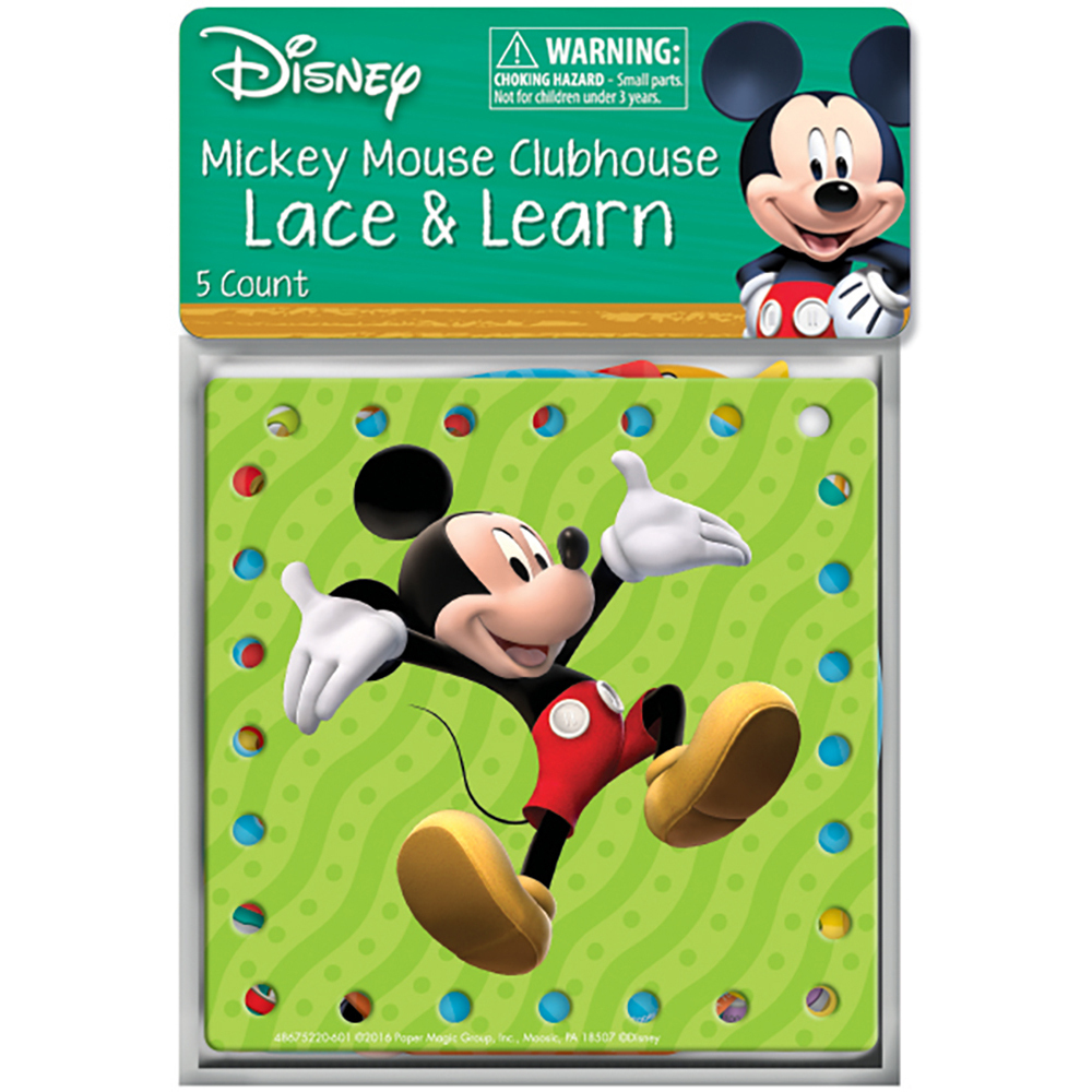 EU 867522 MICKEY MOUSE LACE AND LEARN
