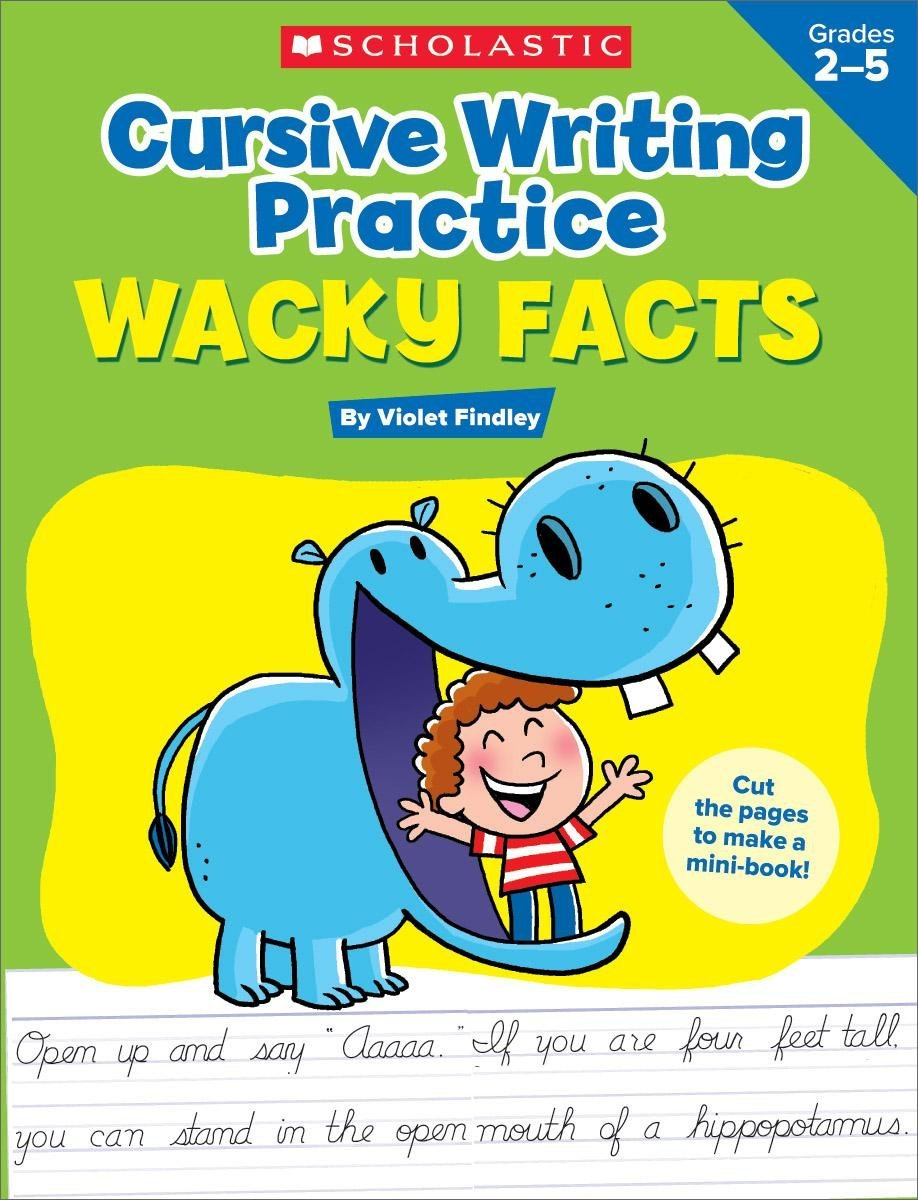 SC 594317 CURSIVE WRITING PRACTICE: WACKY FACTS