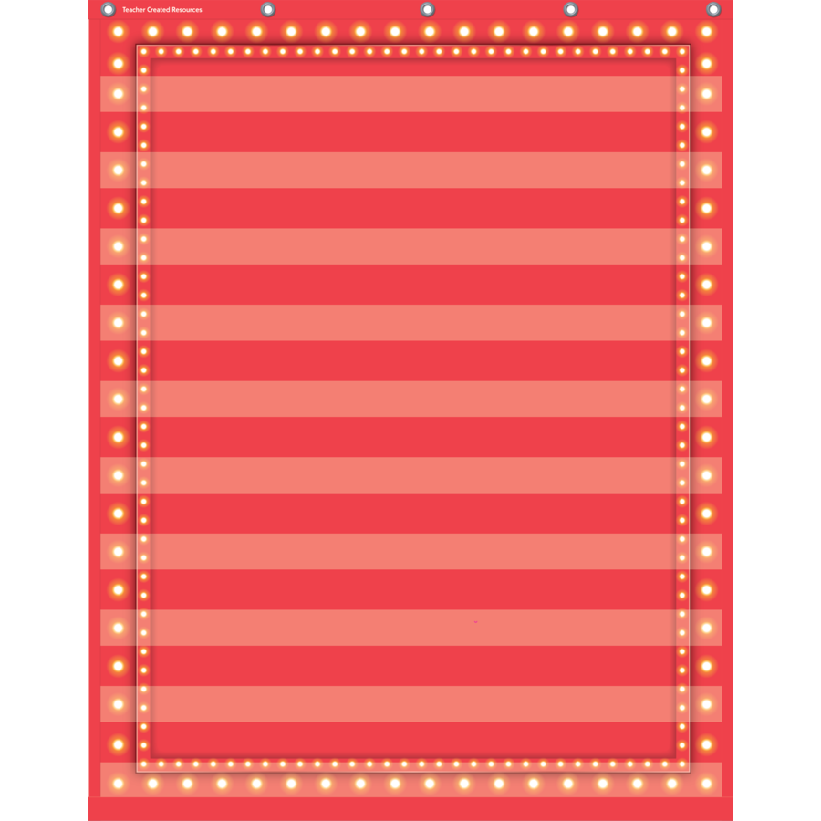TCR 20831 10 POCKET CHART RED MARQUEE