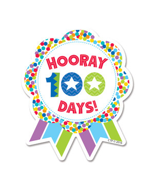 CTP 1800 HOORAY 100 DAYS BADGE