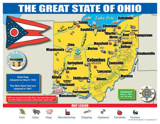GA 125293 OHIO STATE MAP