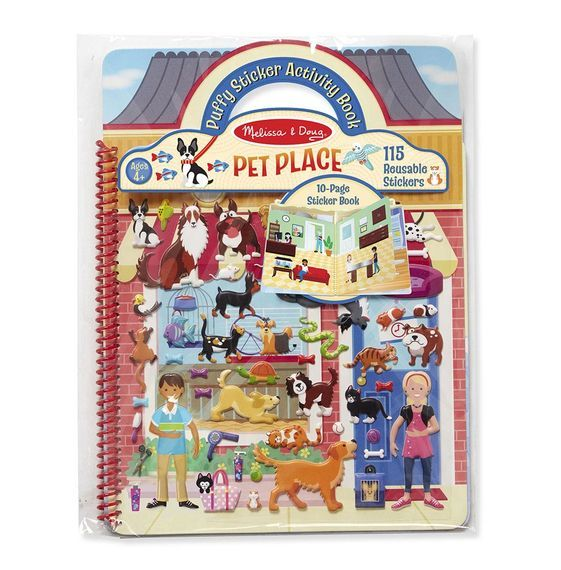 MD 9429 PUFFY STICKER ACTIVITY BOOK PET PLACE