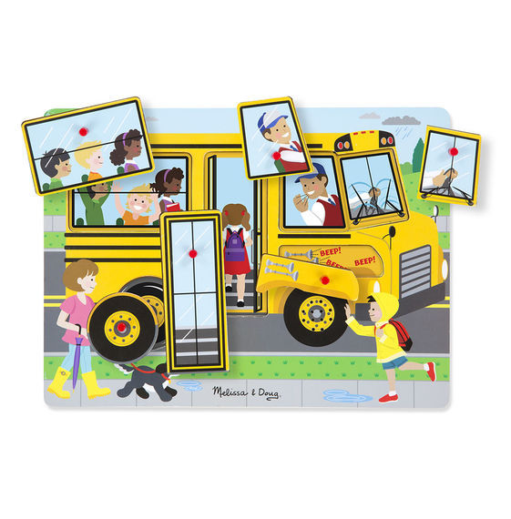 MD 739 THE WHEELS ON THE BUS PUZZLE