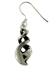 Earing pewter triple twist pointed