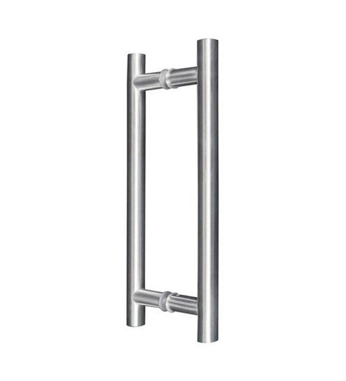 Pivot Door Handle - Brushed Nickel
