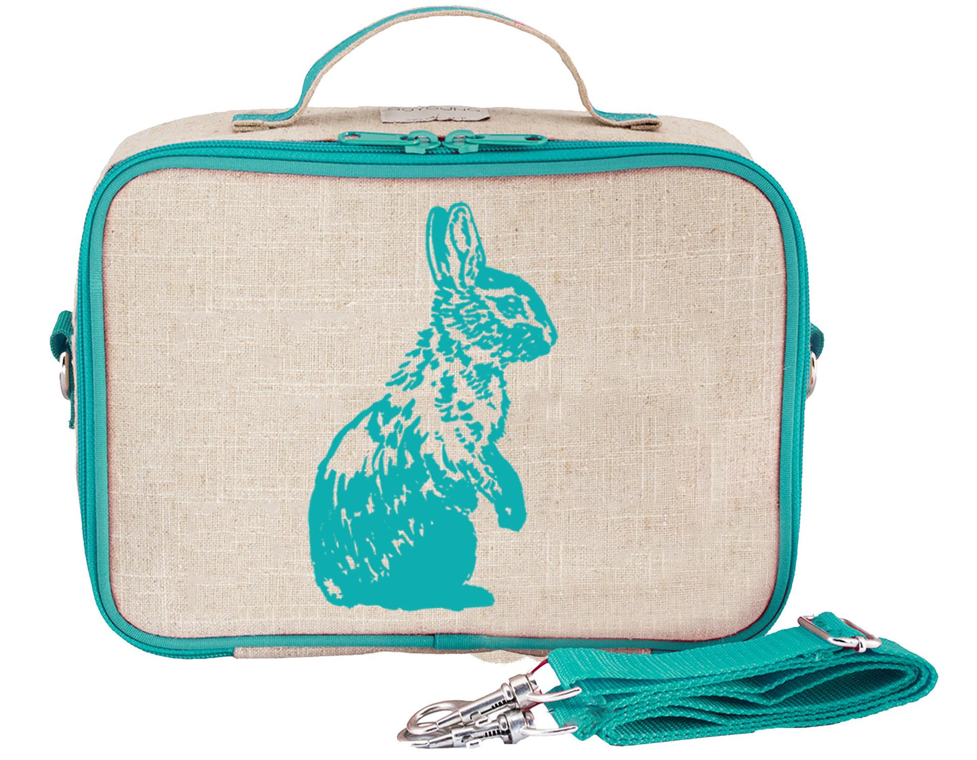 So Young Lunch Bag - Aqua Bunny