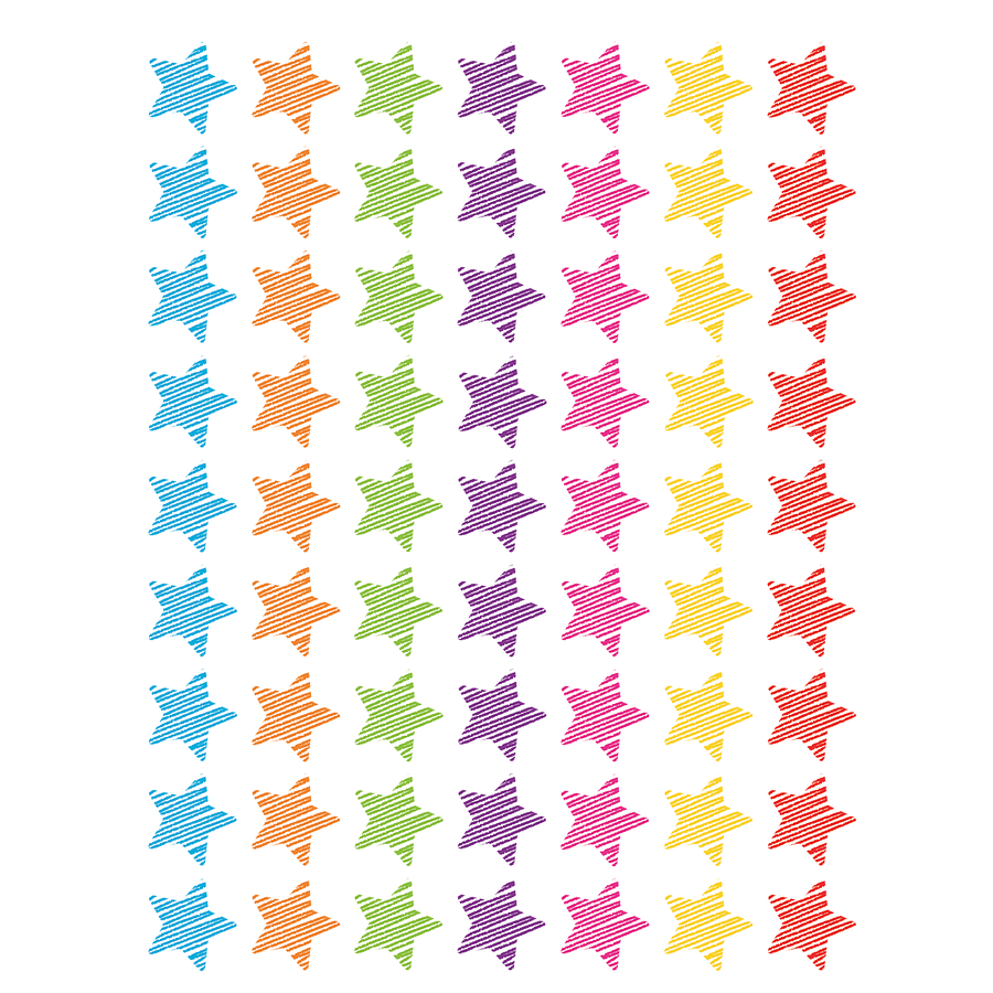 TCR 3073 SCRIBBLE STARS MINI STICKERS