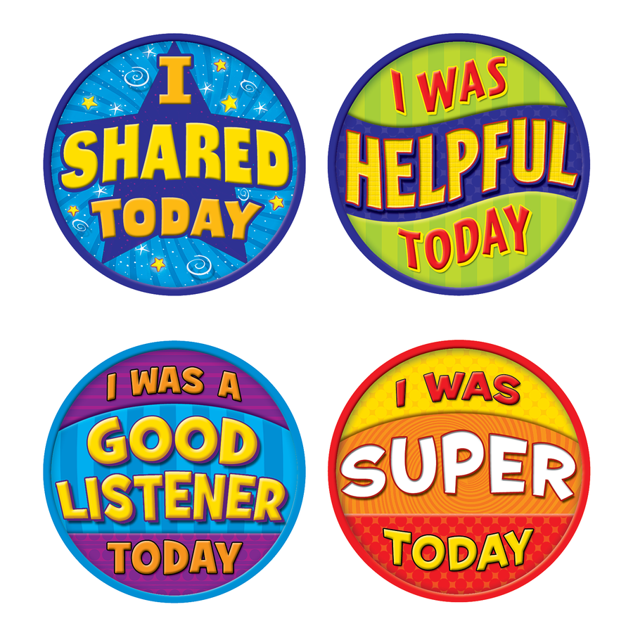 TCR 5471 WEAR 'EM BADGES GOOD BEHAVIOR