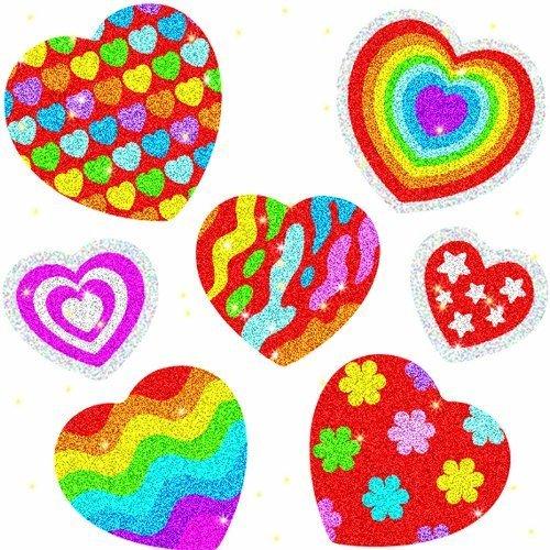CD 2911 HEARTS DAZZLE STICKERS