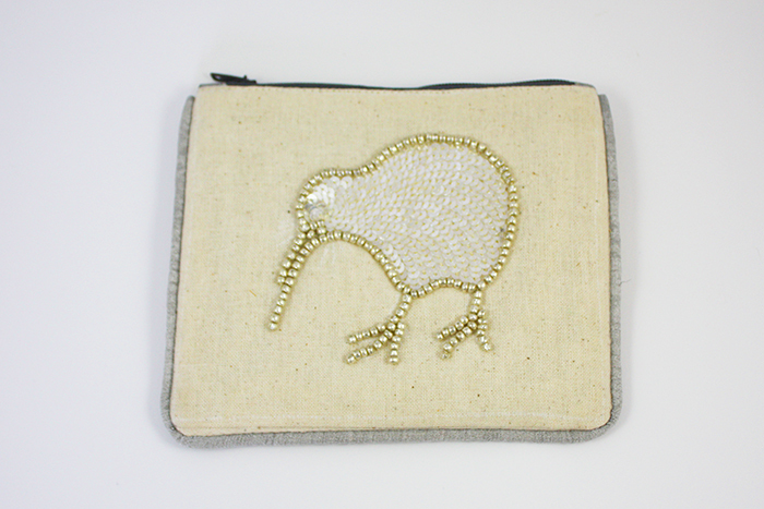 Silver Kiwi Small Coin Purse