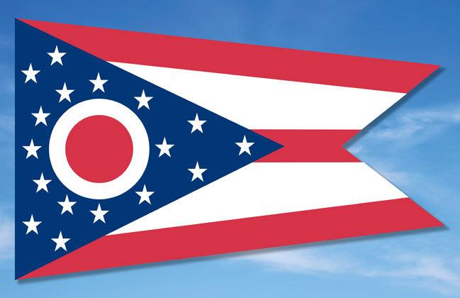 GA 115997 OHIO FLAG POSTER