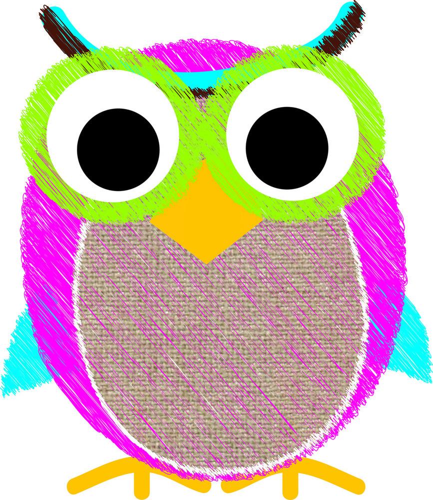 AP 10049 MAG ERASER BURLAP SCRIBBLE OWL