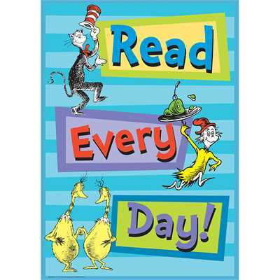 EU 837083 DR SEUSS READ EVERY POSTER