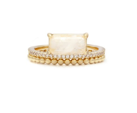 MELANIE AULD - DOUBLE BAND RING IN GOLD