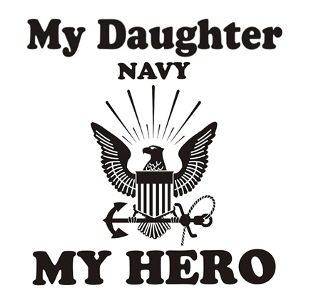 My Daughter My Hero Navy T Shirt Apparel Military Pride Online