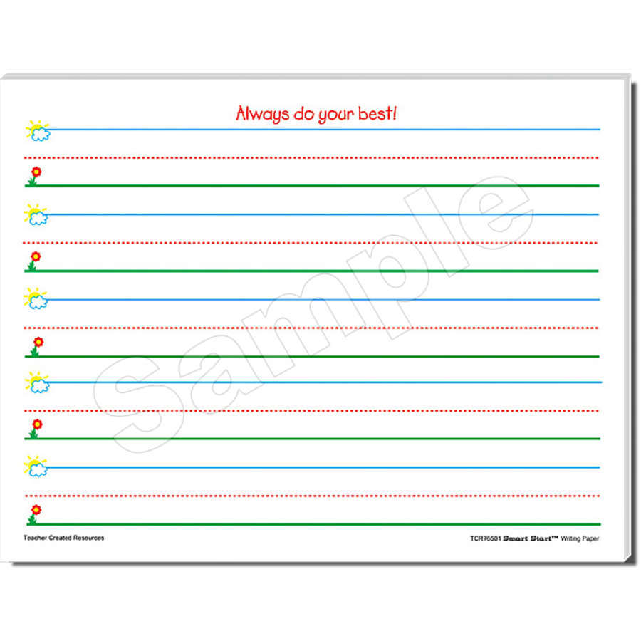 TCR 76501 SMART START K-1 WRITING PAPER 100