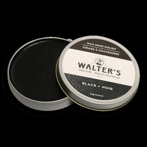 WALTER'S SHOE CARE - BLACK WAX POLISH