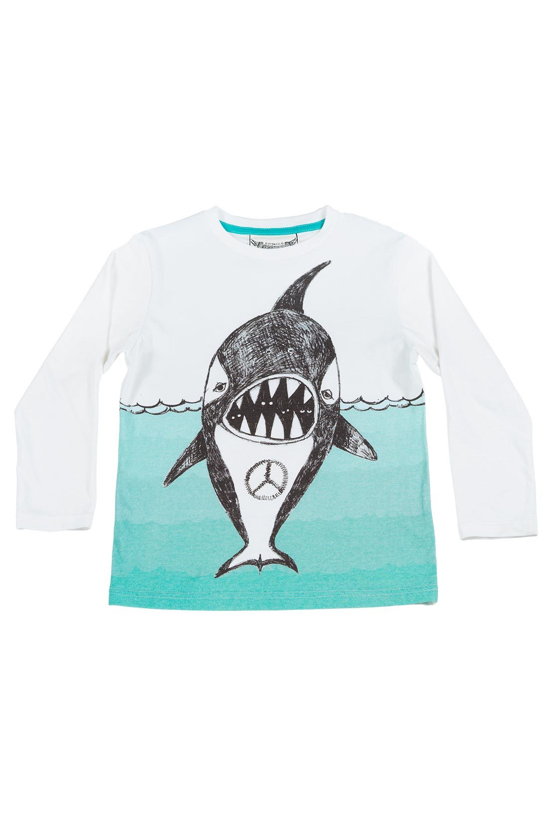 Paper Wings Peace Whale LS Tee