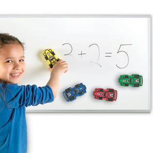 LER 2693 MAGNETIC WHITEBOARD ERASERS CARS