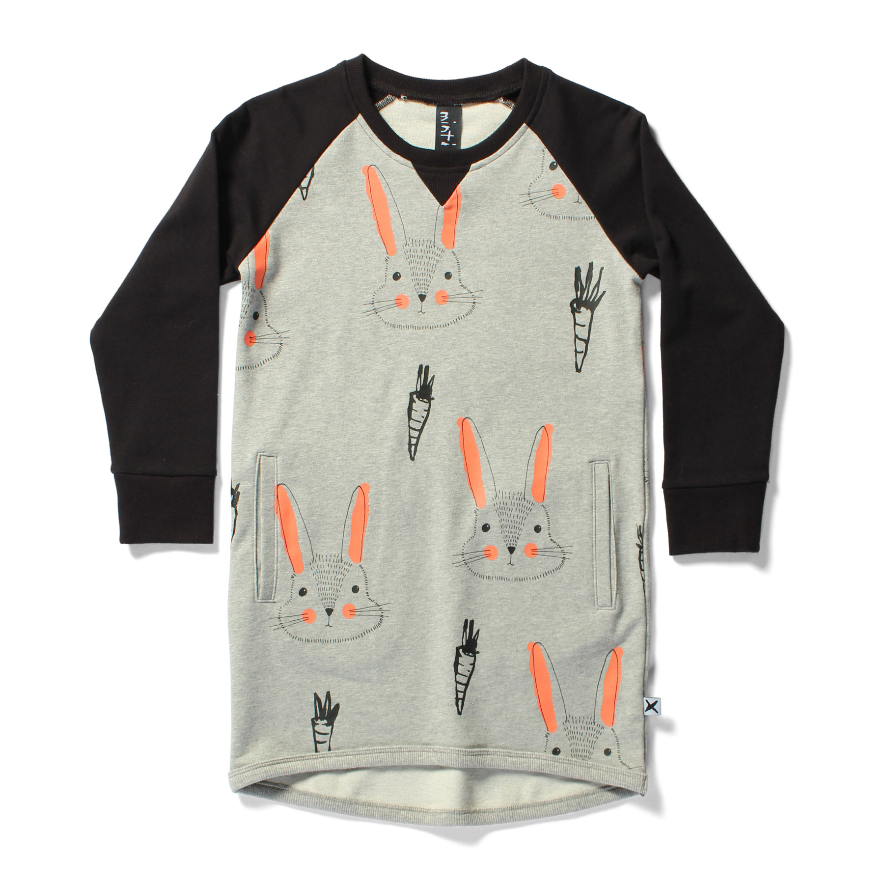 RAGLAN DRESS - bunnies carrots