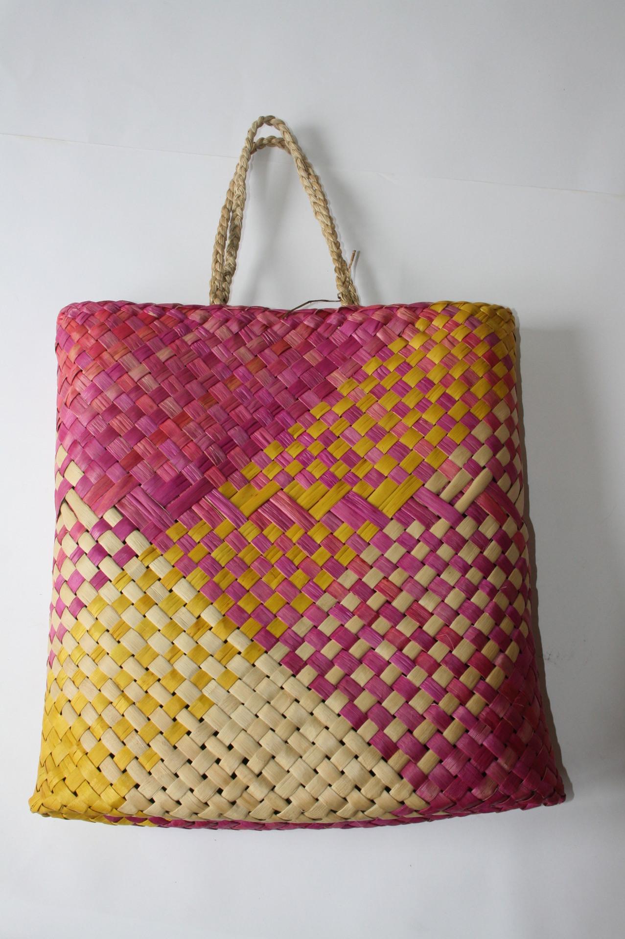Toniwha Niho Shopper - Magenta, Yellow and Natural
