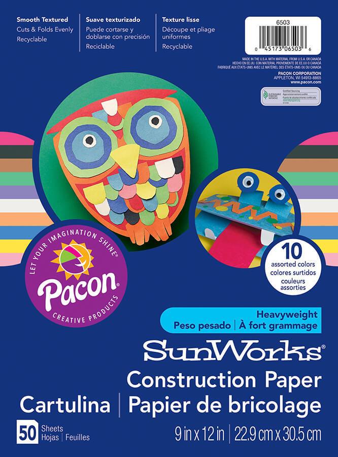 PA 6503 CONSTRUCTION PAPER ASST 9X12