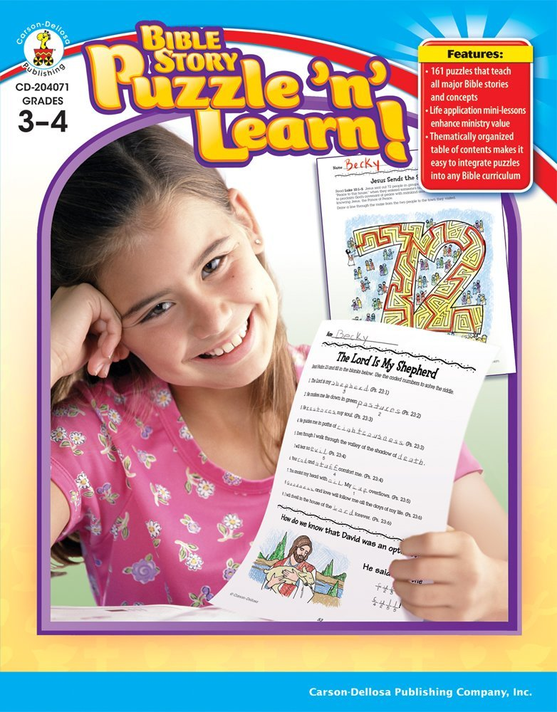 CD 204071 BIBLE STORY PUZZLE 'N' LEARN! GRADES 3-4