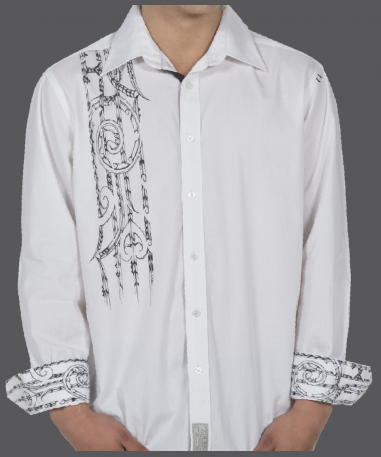 White Harakeke Dress Shirt