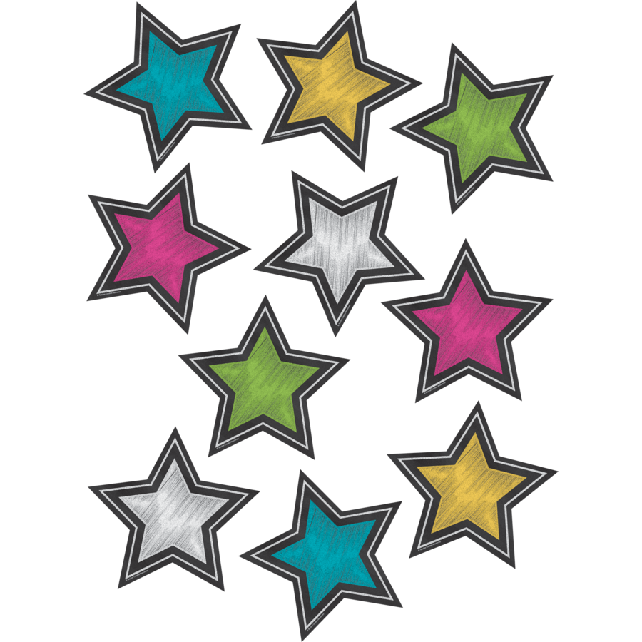 TCR 3550 STAR CHALKBOARD BRIGHTS CUTOUTS