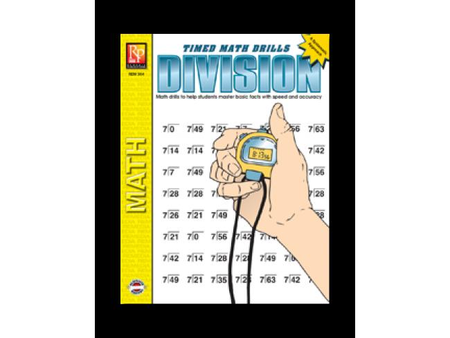 REM 504 TIMED MATH DRILLS DIVISION
