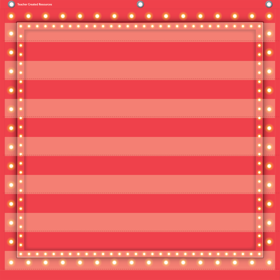 TCR 20783 7 POCKET CHART RED MARQUEE