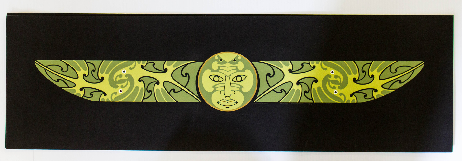 Series of Framed Prints Limited Edition 4/70 Lizard Man (Green), Birdman (Orange), Happy Fisherman (Red)