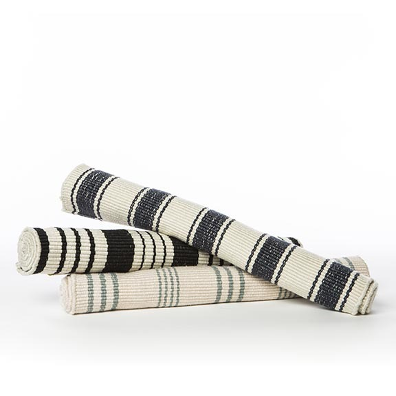 STRIPED THROW RUG
