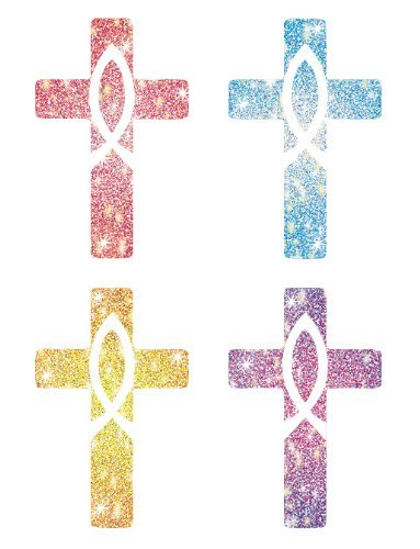 CD 2150 CROSSES DAZZLE STICKERS