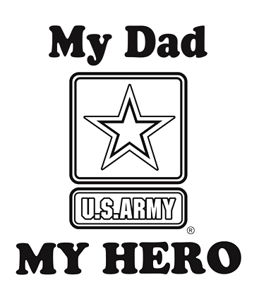 My Dad My Hero Army T Shirt Apparel Military Pride Online