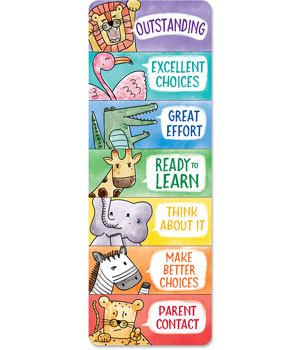 CTP 0698 SAFARI FRIENDS DESKTOP BEHAVIOR CLIP CHART