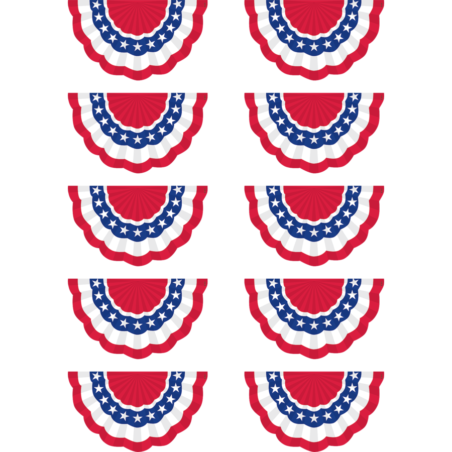 TCR 5895 PATRIOTIC BUNTING CUTOUTS