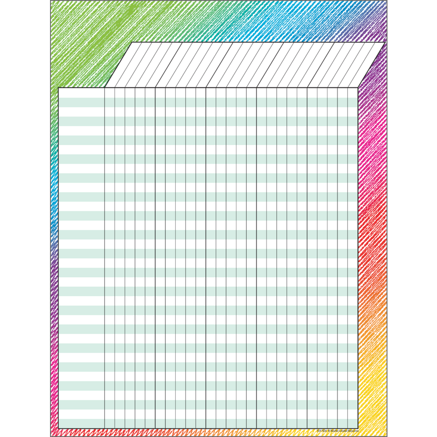 TCR 7526 COLORFUL SCRIBBLE INCENTIVE CHART