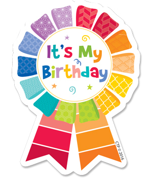 CTP 1066 HAPPY BIRTHDAY BADGE PAINTED PALETTE